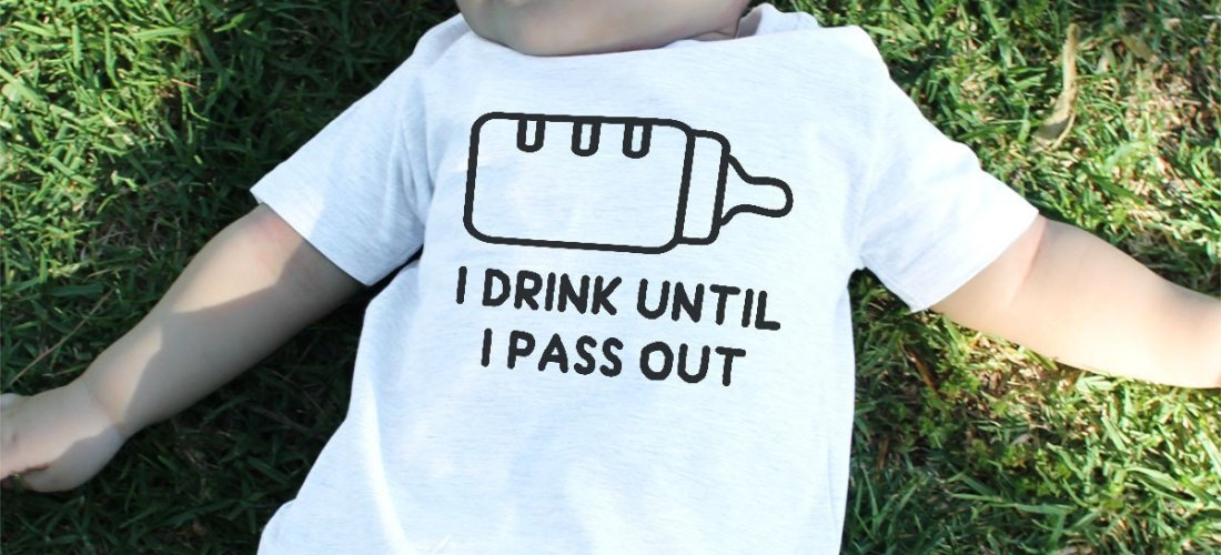 3bd4a8ea38e8a Sublime Gadgets: Drink Until I Pass Out Baby Tee