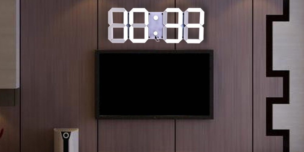 Sublime Gadgets Remote Control Led Digital Wall Clock Sublime Gadgets